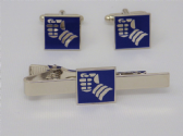 6th ARMOURED DIVISION CUFF LINK AND TIE GRIP / CLIP GIFT SET